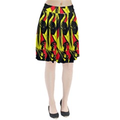 Easy Colors Abstract Pattern Pleated Skirt