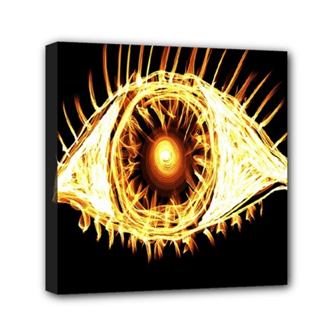 Flame Eye Burning Hot Eye Illustration Mini Canvas 6  X 6