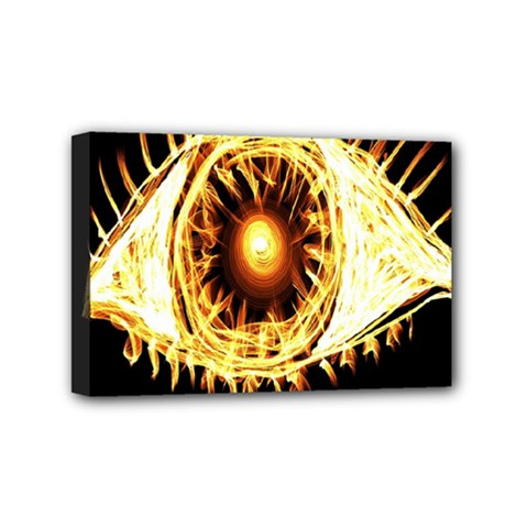 Flame Eye Burning Hot Eye Illustration Mini Canvas 6  x 4