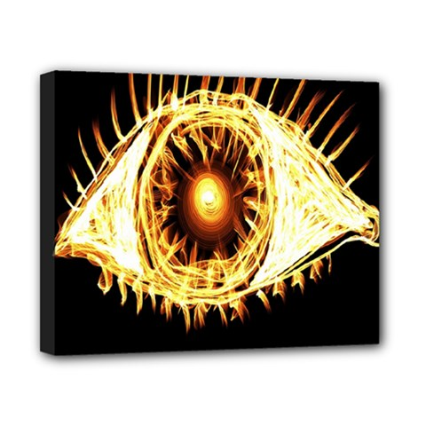 Flame Eye Burning Hot Eye Illustration Canvas 10  X 8