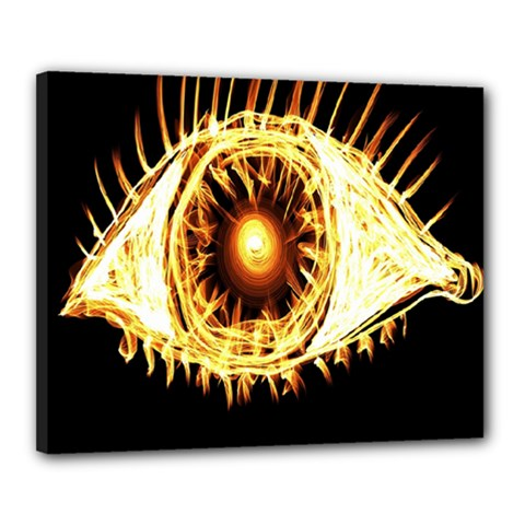 Flame Eye Burning Hot Eye Illustration Canvas 20  x 16