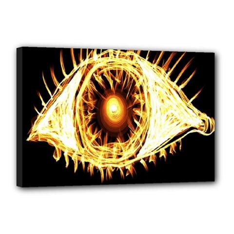 Flame Eye Burning Hot Eye Illustration Canvas 18  x 12