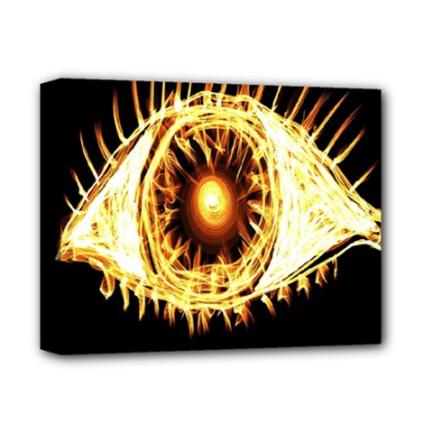 Flame Eye Burning Hot Eye Illustration Deluxe Canvas 14  x 11