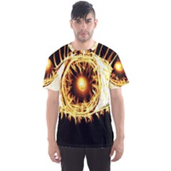 Flame Eye Burning Hot Eye Illustration Men s Sport Mesh Tee