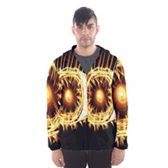 Flame Eye Burning Hot Eye Illustration Hooded Wind Breaker (Men)