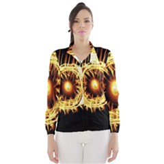 Flame Eye Burning Hot Eye Illustration Wind Breaker (Women)