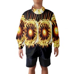 Flame Eye Burning Hot Eye Illustration Wind Breaker (Kids)