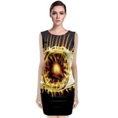 Flame Eye Burning Hot Eye Illustration Classic Sleeveless Midi Dress