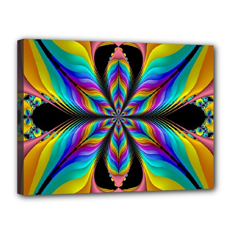 Fractal Butterfly Canvas 16  x 12