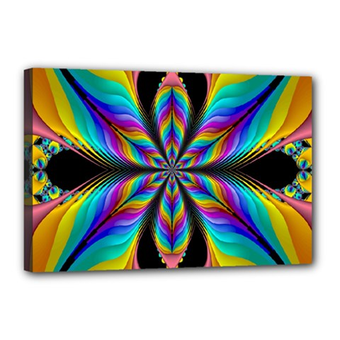 Fractal Butterfly Canvas 18  X 12