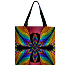 Fractal Butterfly Zipper Grocery Tote Bag