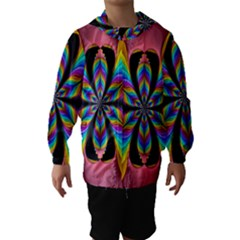 Fractal Butterfly Hooded Wind Breaker (kids)