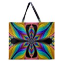 Fractal Butterfly Zipper Large Tote Bag View1