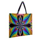 Fractal Butterfly Zipper Large Tote Bag View2