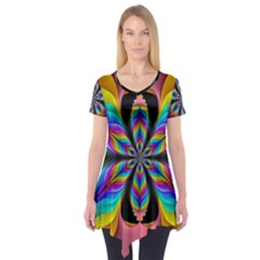 Fractal Butterfly Short Sleeve Tunic
