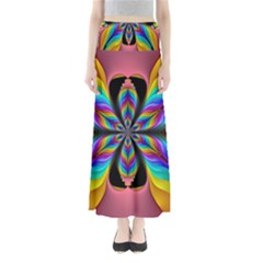 Fractal Butterfly Maxi Skirts