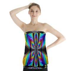 Fractal Butterfly Strapless Top