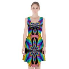 Fractal Butterfly Racerback Midi Dress