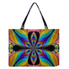 Fractal Butterfly Medium Zipper Tote Bag