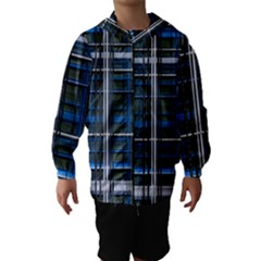 3d Effect Apartments Windows Background Hooded Wind Breaker (Kids)