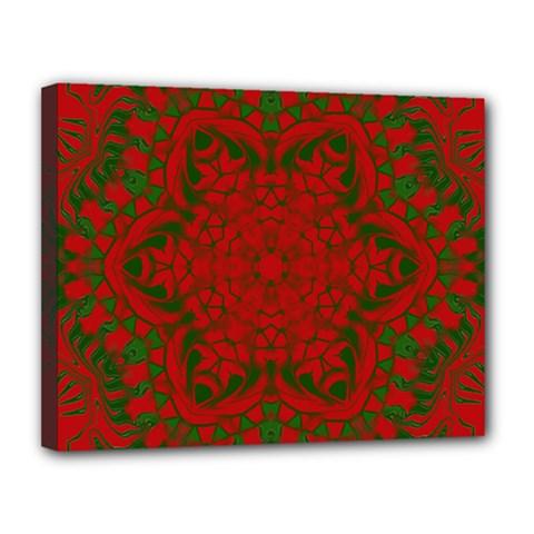 Christmas Kaleidoscope Canvas 14  x 11