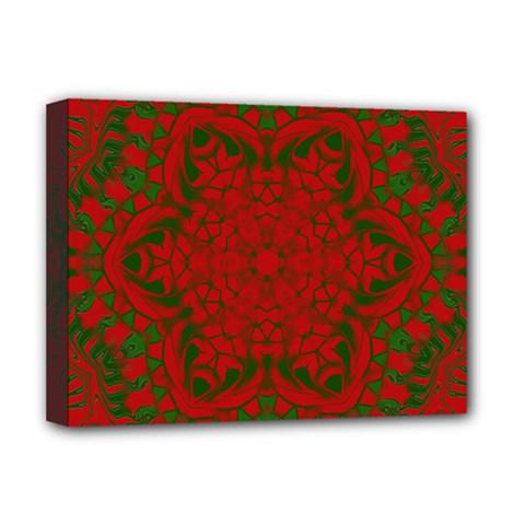 Christmas Kaleidoscope Deluxe Canvas 16  x 12