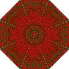 Christmas Kaleidoscope Hook Handle Umbrellas (Large)