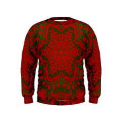 Christmas Kaleidoscope Kids  Sweatshirt