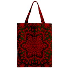 Christmas Kaleidoscope Zipper Classic Tote Bag