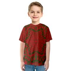 Christmas Kaleidoscope Kids  Sport Mesh Tee