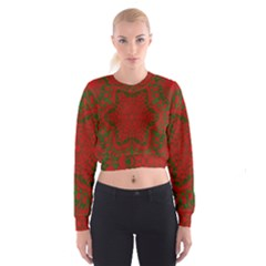 Christmas Kaleidoscope Cropped Sweatshirt
