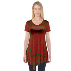 Christmas Kaleidoscope Short Sleeve Tunic