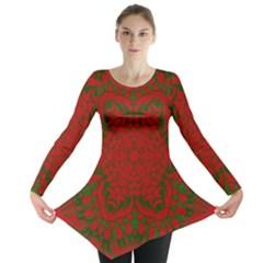 Christmas Kaleidoscope Long Sleeve Tunic