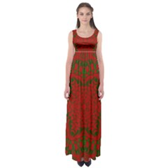 Christmas Kaleidoscope Empire Waist Maxi Dress