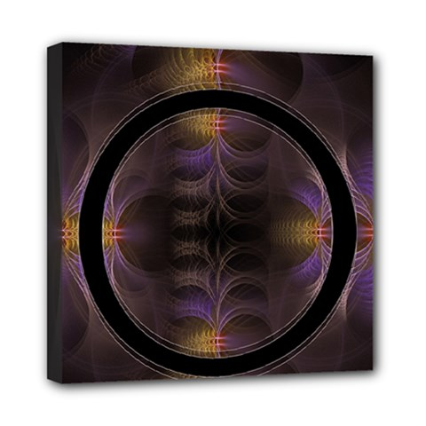 Wallpaper With Fractal Black Ring Mini Canvas 8  x 8