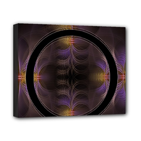 Wallpaper With Fractal Black Ring Canvas 10  x 8