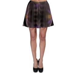 Wallpaper With Fractal Black Ring Skater Skirt