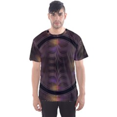 Wallpaper With Fractal Black Ring Men s Sport Mesh Tee