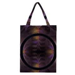 Wallpaper With Fractal Black Ring Classic Tote Bag