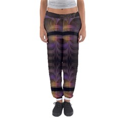 Wallpaper With Fractal Black Ring Women s Jogger Sweatpants
