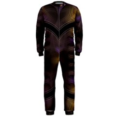 Wallpaper With Fractal Black Ring Onepiece Jumpsuit (men)