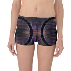 Wallpaper With Fractal Black Ring Reversible Bikini Bottoms