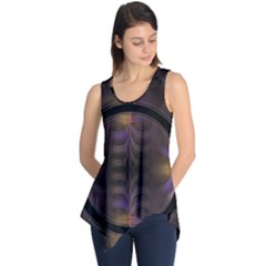 Wallpaper With Fractal Black Ring Sleeveless Tunic
