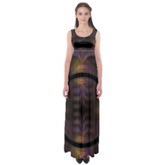 Wallpaper With Fractal Black Ring Empire Waist Maxi Dress