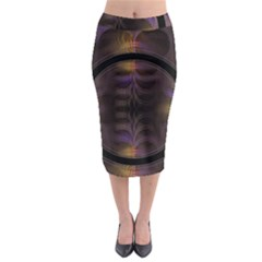 Wallpaper With Fractal Black Ring Midi Pencil Skirt