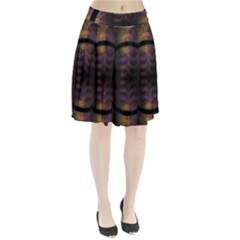 Wallpaper With Fractal Black Ring Pleated Skirt