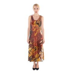 Abstraction Abstract Pattern Sleeveless Maxi Dress