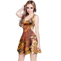 Abstraction Abstract Pattern Reversible Sleeveless Dress