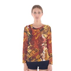 Abstraction Abstract Pattern Women s Long Sleeve Tee