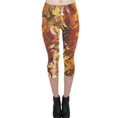 Abstraction Abstract Pattern Capri Leggings